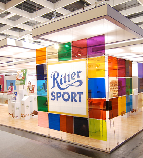 ritter sport messestand. Black Bedroom Furniture Sets. Home Design Ideas